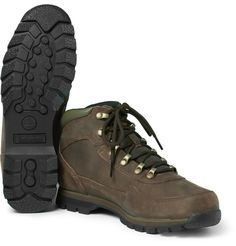 <a href='http://www.mrporter.com/mens/Designers/Timberland'>Timberland</a>'s sturdy hiking boots are built from waterproof and robust GORE-TEX® nubuck to keep your feet dry on inclement country jaunts. This rugged pair has supportive padded cuffs, piqué tongues and shock-absorbing gripped Green Rubber™ soles to ensure firm footing on any terrain.