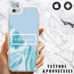 Fearless tumblr quotes light blue pastel case for iPhone 5/5s iPhone 6/6s case Samsung S4 Samsung S5 Case iPhone 6 plus case by TattoosandPhoneCases on Etsy https://www.etsy.com/listing/264954965/fearless-tumblr-quotes-light-blue-pastel