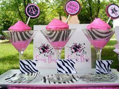 pink/black zebra party