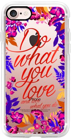 Casetify iPhone 7 Classic Grip Case - Do what you love- love what you do - fall nights by maria kritzas #Casetify