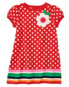 {Flower Dot Sweater Dress}