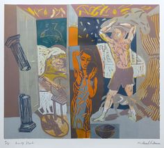 'Early Start' linocut by Michael Kirkman http://www.stjudesprints.co.uk/collections/michael-kirkman