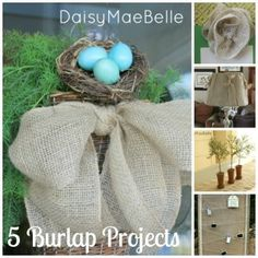 5 Burlap Projects | daisymaebelle