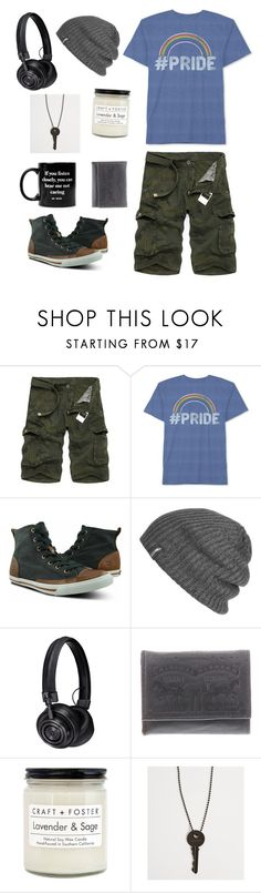 """OC: Patch(aka Pirate)"" by old-mech-mags ❤ liked on Polyvore featuring Hybrid, Burnetie, Outdoor Research, Master & Dynamic, Levi's, Craft + Foster, The Giving Keys and Jac Vanek"