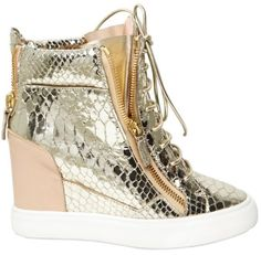 Shop for Python Print Sneaker Wedges by Giuseppe Zanotti at ShopStyle. Wedge Heel Sneakers, Sneaker Heels, Platform Sneakers, Shoes Sneakers, Giuseppe Zanotti Heels, Zanotti Shoes, Basket A Talon, Shoe Gallery, Fashion Shoes