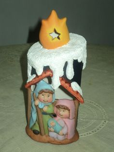 vela de nacimiento en ceramica