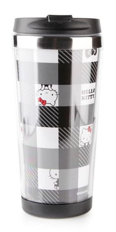 Hello Kitty travel mug with a large 15 fl.oz. (450 ml) capacity holds enough coffee to get through the day