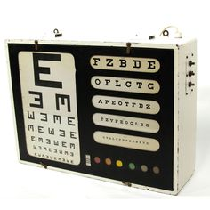 Lighted Eye Chart
