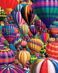 """Jigsaw Puzzle 1000 Pieces 24""""X30""""-Hot Air Balloons (Case of 1)"""