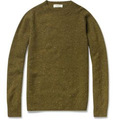 YMC Merino Wool and Cashmere-Blend Sweater. Notes YMC takes a luxurious approach to an autumn essential with this exceptionally plush sweater. Crafted in Scotland from