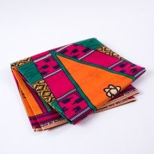 Multi-color+Large-Scale+Waxed+Cotton+African+Print+with+additional+Inlaid+Print