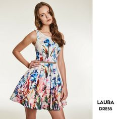 LAURA  Cocktail dress with floral motif