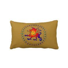 Travesseiro tribal II do dragão da cor