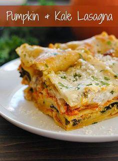 Kaila's Place| Pumpkin & Kale Lasagna