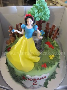 Snow White Cake Inspired by Antonella di Maria, one of my favorite cake designers.