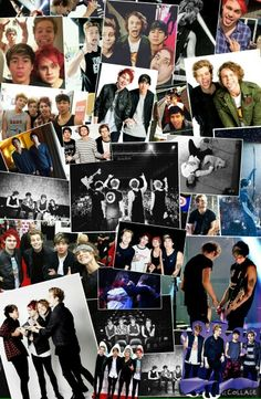 Made a collage for the best band ever ❤ they have came a long way I'm so proud of them!!