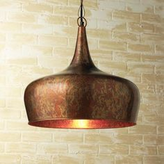 Copper Onion Dome Pendant - contemporary - Pendant Lighting - Shad$289 * Price not verified The oxidized copper finish and the dome shape of this pendant are so striking. I could totally see it in a kitchen with all-white cabinets and a chef's stove with a matching copper hood. — Ann Marie @ Twice Lovely Specifications Sold By Shades of Light | Visit Store  Category Pendant Lighting  Style Contemporary  People who liked this Product also liked (es of Light