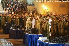 """The Jewish army holds their swearing in ceremony at Judaism's holiest site: the Western Wall. When IDF soldiers are sworn in they receive a gun and a Bible fulfilling their covenant with God and the Jewish people and affirming that """"it is He who makes your borders peaceful."""""""