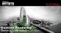 Sketchup and photoshop :: sketchup rendering tutorials by Architecture Logo, Architecture Wallpaper, Architecture Portfolio, Concept Architecture, Wallpaper Staircase, Photoshop, Exterior, Digital, Painting