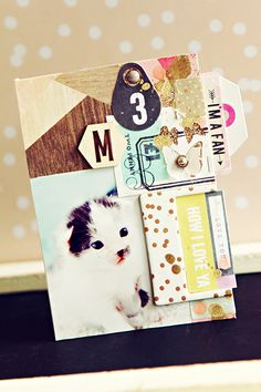 Crate Paper | Christine Middlecamp | Notes & Things | Card 1 scrapbooking card