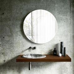 New bathroom inspiration concrete mirror 47 ideas Bathroom Ceiling Light, Bathroom Wall Decor, Bathroom Layout, Bathroom Colors, Bathroom Sets, Modern Bathroom, Bathroom Accents, Small Bathroom, Bathrooms