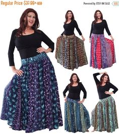 20% Off Seasons Greetings P777 Skirt Maxi by LotusTradersClothing