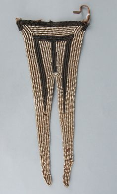 Woman's beaded hide apron, of 'swallowtail' form. Xhosa, British Museum, African Art, Apron, Detail, Collection, Women, Fashion, Moda