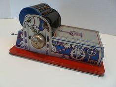 Rare Vintage Louis Marx Tin Toy Printing Press w/ Type from historique on Ruby Lane