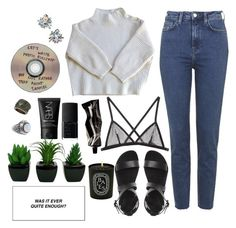 """""""Writing poetic bullshit"""" by c-rescentmoon ❤ liked on Polyvore featuring mode, Vanessa Bruno, Topshop, Fleur du Mal, Diptyque, Aesop, NARS Cosmetics en H&M"""