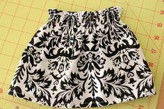 simple baby skirt tutorial, 0-3 mos.