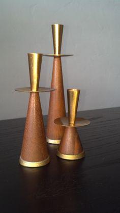 Vintage Danish Candle Holders by Phoebesatticseattle on Etsy