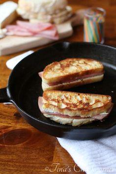 Grilled Ham and Brie - tinaschic.com