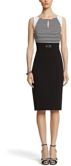 White House Black Market Striped Sheath Dress on shopstyle.com