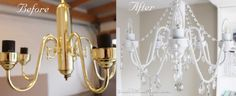 BEFORE AND AFTER Chandelier: DIY , Simple easy to do Chandelier makeover. Converted an old chandelier into an eye catching piece!!, BEFORE AND AFTER Chandelier, Bedrooms Design