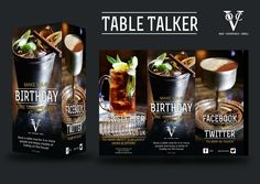 Die Cut Table Talkers POS Point Of Sale Innovative Design POS - Restaurant table talkers