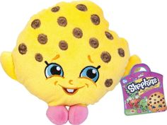 """Shopkins Kooky Cookie 6"""" Deluxe Plush Figure Shopkins are the super cute, fun, small characters that live in a Big Shopping world. Now you can collect your very own Shopkin Plush Kookie Cookie Plush. Approx. 6 Inches Tall Official licensed Shopkins Plush FREE SHIPPING IN THE U.S.A."""