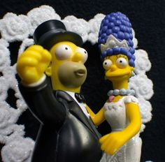 homer and marge simpson wedding cake topper blue wine centerpiece blue wine bottle light with blue 15306
