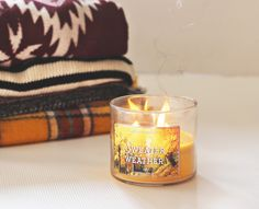 bath and body works - sweater weather candle