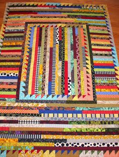 """Selvage Blog: This is Karen Griska's new camp quilt, """"Adirondack."""" I think it's fabulous."""