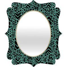 Nick Nelson Microcosm Lagoon Quatrefoil Mirror | DENY Designs Home Accessories