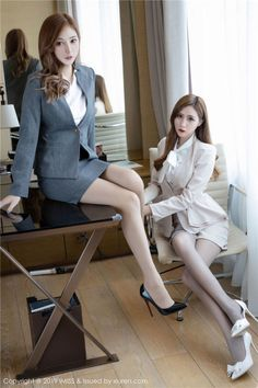 Korean Fashion Dress, Asian Fashion, Fashion Dresses, Pantyhose Fashion, Fitted Skirt, Girls In Love, Amazing Women, Outfit Of The Day, Fit Women
