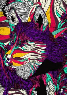 by danny ivan X bryan gallardo (collaboration)  illustration lines line work design texture pattern colour color