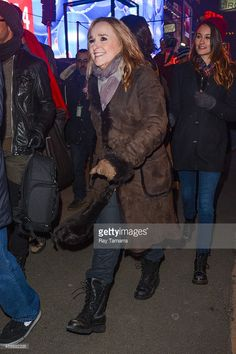 Singer <a gi-track='captionPersonalityLinkClicked' href=/galleries/search?phrase=Melissa+Etheridge&family=editorial&specificpeople=206313 ng-click='$event.stopPropagation()'>Melissa Etheridge</a> leaves the New Year's Eve 2014 Celebration in Times Square on December 31, 2013 in New York City.