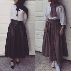 New Ideas For Skirt Outfits For Winter Street Style Shoes - Skirt,, - Dress Modern Hijab Fashion, Muslim Fashion, Modest Fashion, Skirt Fashion, Fashion Outfits, Gucci Fashion, Jeans Fashion, Modest Dresses, Modest Outfits