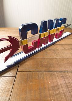 For the Cavs fan who appreciates nice things—this #DIY #Cavs sign will look great on your mantel!
