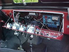 Opened dash - clean and easy access to all circuits