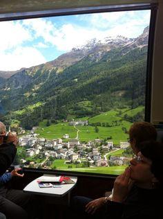 Bernina Express, Chur, Switzerland - Panoramic windows on the Bernina Express European Travel, European Trips, Chur Switzerland, Switzerland Travel Guide, Bernina Express, Round The World Trip, Swiss Railways, Rocky Mountains, Scenery