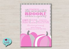 Hey, I found this really awesome Etsy listing at https://www.etsy.com/listing/201412125/baby-shower-pumpkin-invitation-pink