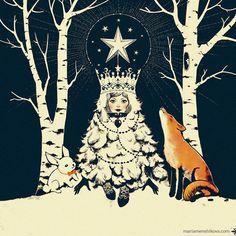New Year Cards by Maria Menshikova, via Behance