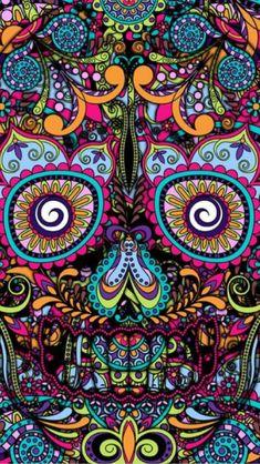 I present to you, my book of skulls. Here you'll find all kinds of skull related stuff. Mexican Skulls, Mexican Art, Tattoos Pinterest, Sugar Skull Art, Sugar Skulls, Foto Transfer, Skull Wallpaper, Candy Skulls, Day Of The Dead Skull